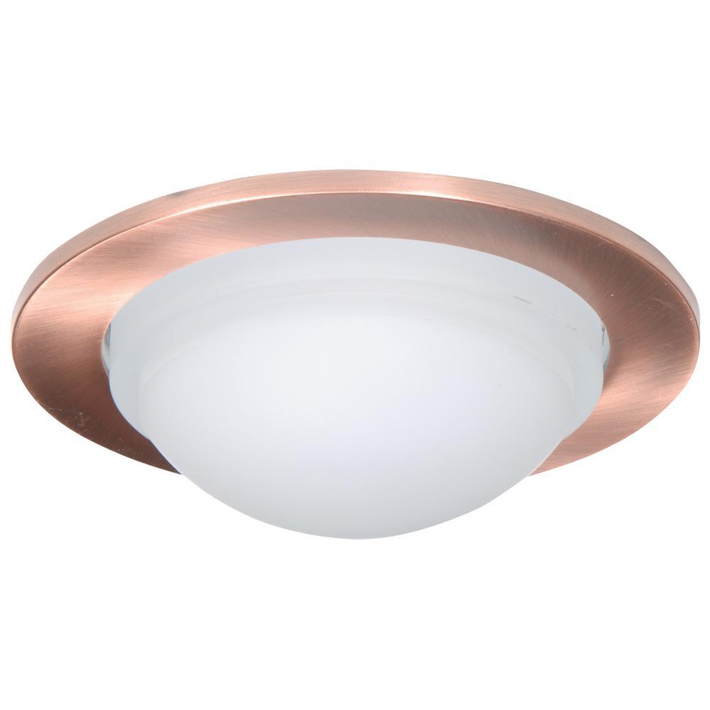5 In. Antique Copper Recessed Ceiling Light ...