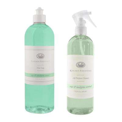 Kitchen Essentials 24 oz. Sage/Eucalyptus All Purpose Cleaner and Dish Soap