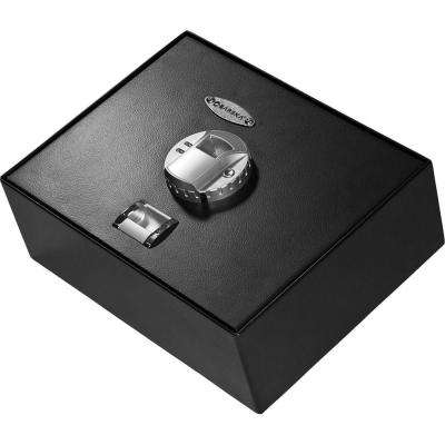 0.23 cu. ft. Top Opening Safe with Biometric Lock, Black Matte