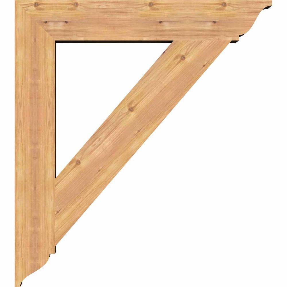 Ekena Millwork 5 1 2 In X 40 In X 36 In Western Red Cedar Traditional Smooth Bracket Bkt06x36x40tra01swr The Home Depot