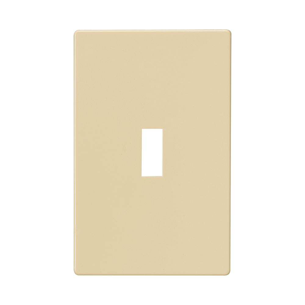 1-Gang Screwless Toggle Wallplate, Ivory
