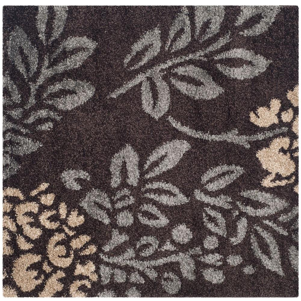 Safavieh Florida Dark Brown Gray 7 Ft X Square Area