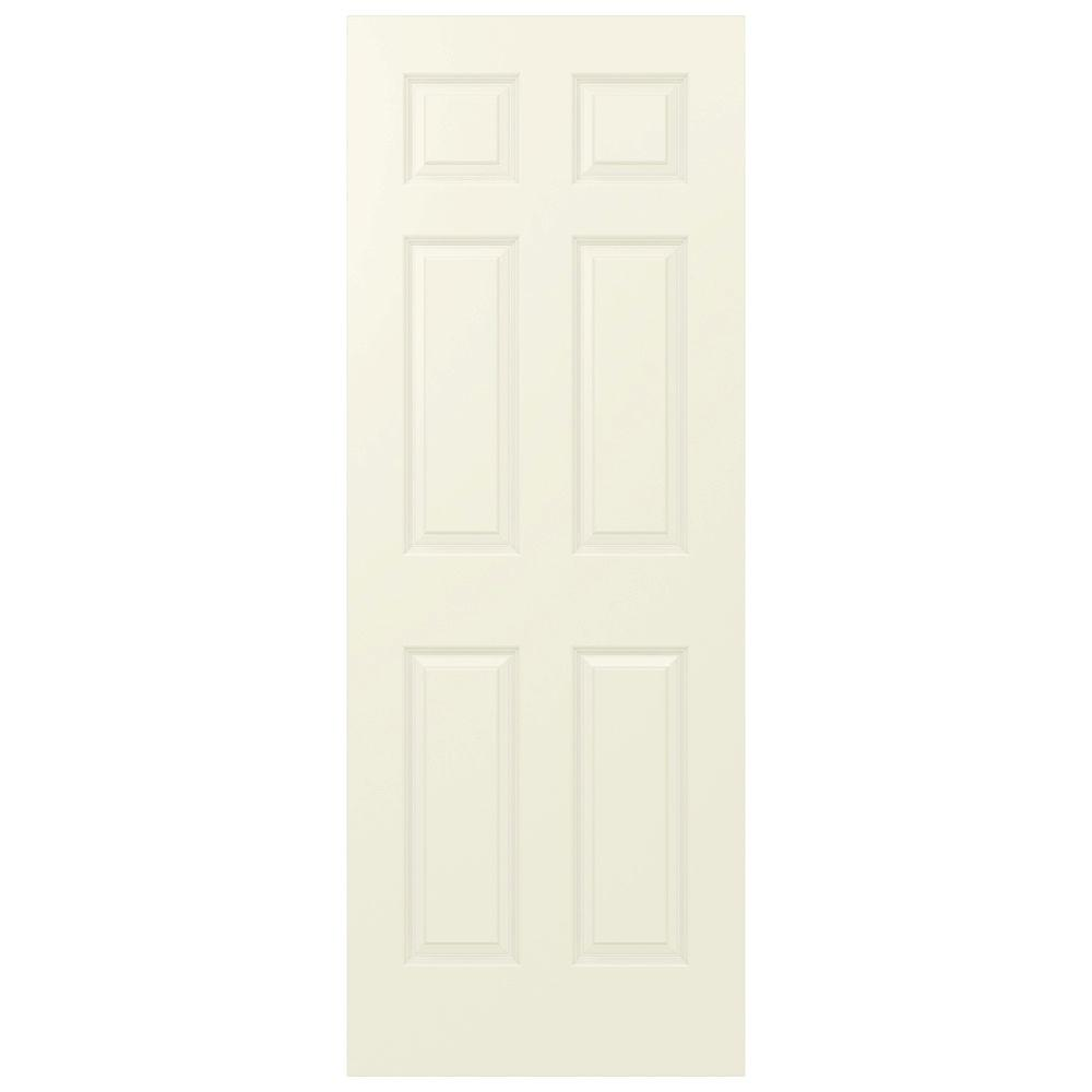 JELD-WEN 32 in. x 80 in. Colonist Vanilla Painted Smooth Molded Composite MDF Interior Door Slab