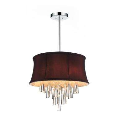 Purple chandeliers lighting the home depot audrey 4 light chrome chandelier with dark purple shade aloadofball Images