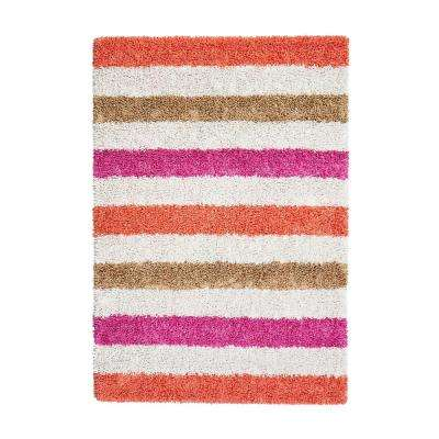 Candy Stripe Pink 4 ft. x 6 ft. Area Rug