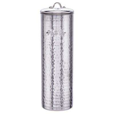 12 in. H Hammered Stainless Steel Pasta Canister