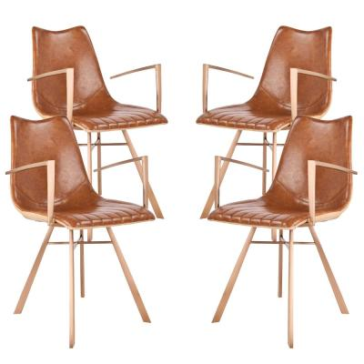 Shelly Brown Dining Chair (Set of 4)