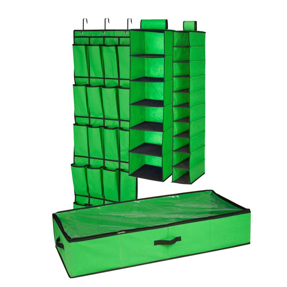4-Piece Green Closet Organization Set