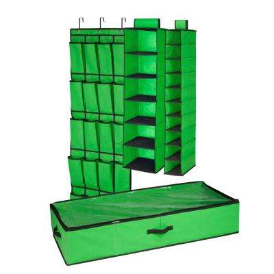 4-Piece Green Closet Organization Set
