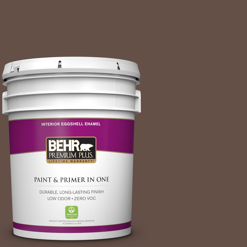 5 gal. #BXC-79 Center Earth Zero VOC Eggshell Enamel Interior Paint