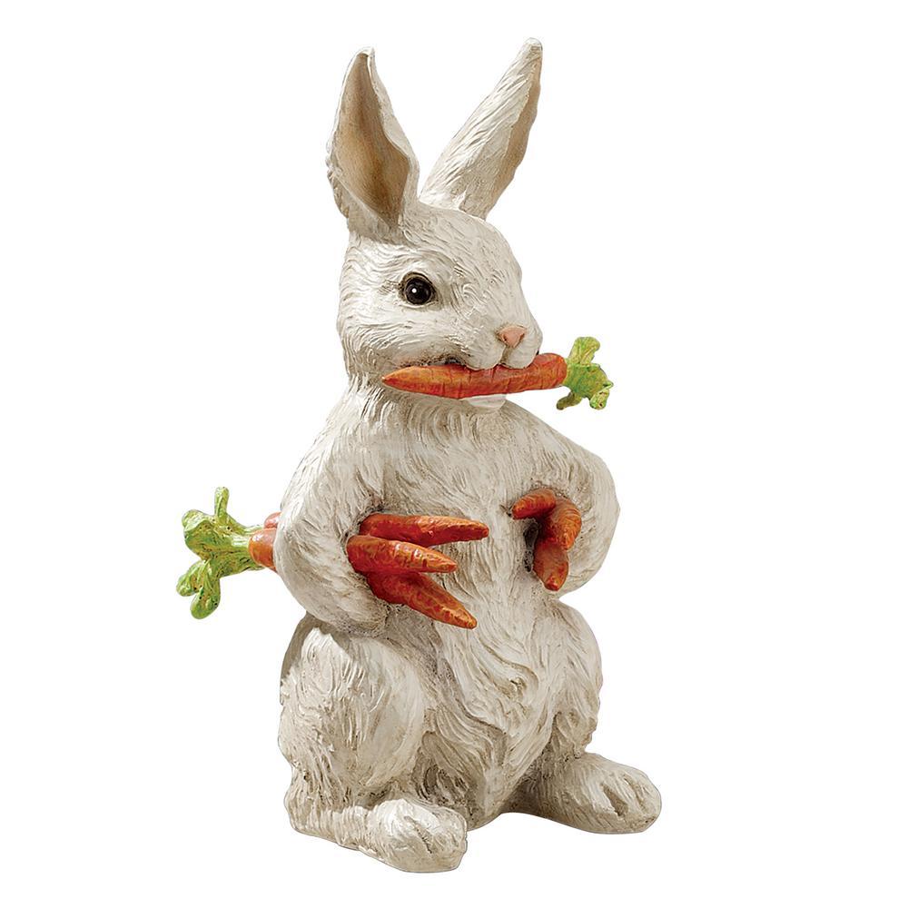 12.5 in. H Carotene the Bunny Rabbit Garden Statue