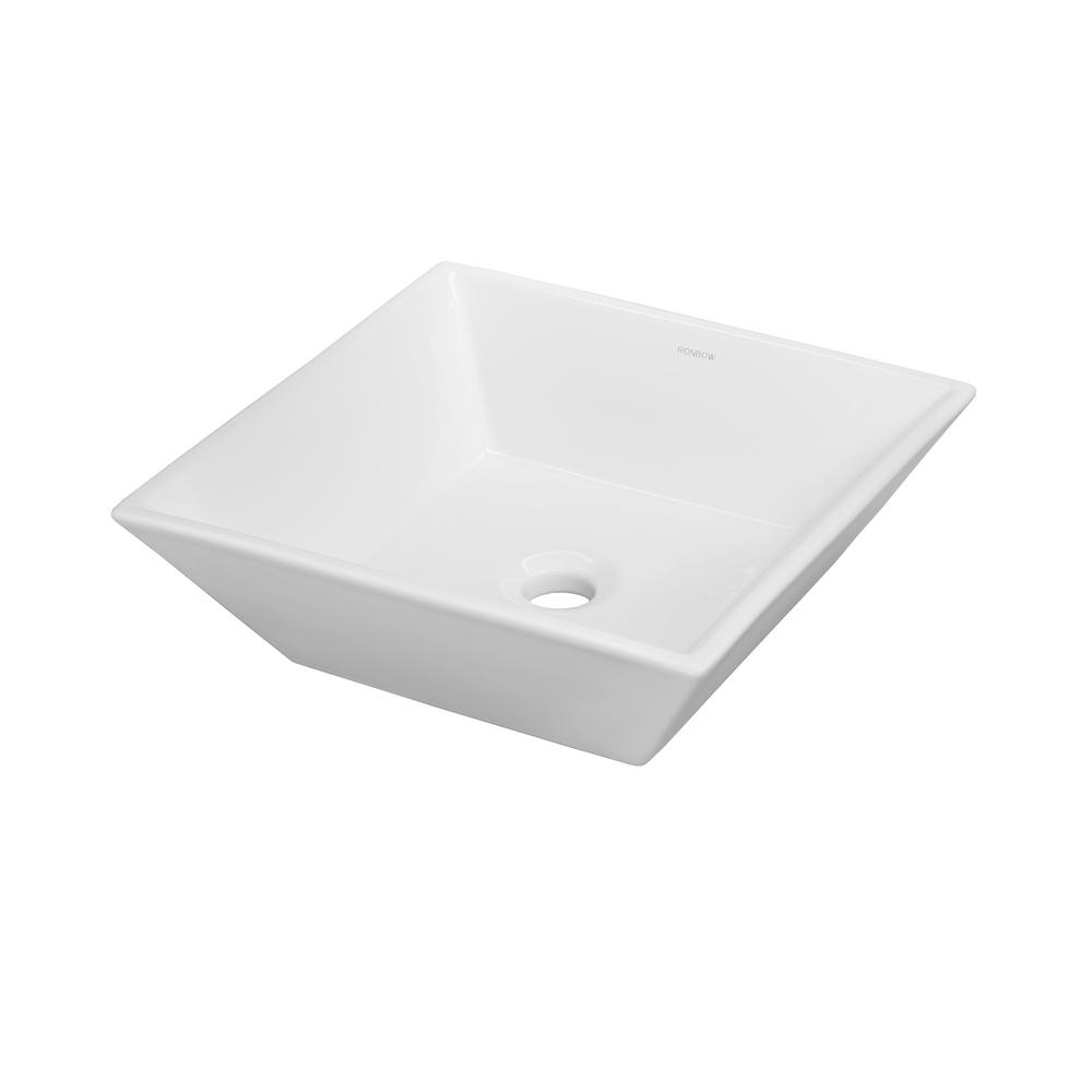 Ronbow Essentials Formation Vessel Sink In White