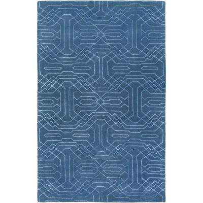 Fosston Navy 2 ft. x 3 ft. Area Rug