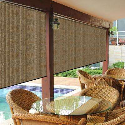 Walnut Cordless Exterior Roller Shade