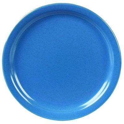 9 in. Diameter, Melamine Plate in Sand Shades Blue (Case of 48)