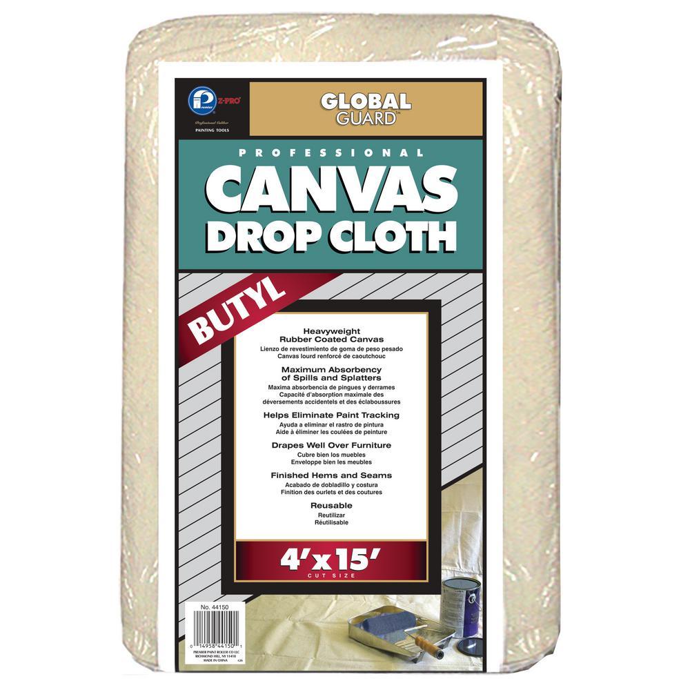 4 ft. x 15 ft. Heavy Duty Butyl Drop Cloth (8-Pack)