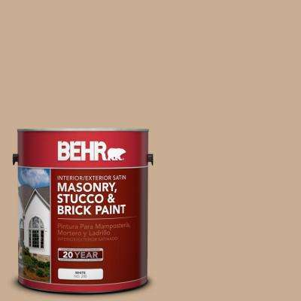 1-gal. #MS-16 Indian Cloth Satin Interior/Exterior Masonry, Stucco and Brick Paint