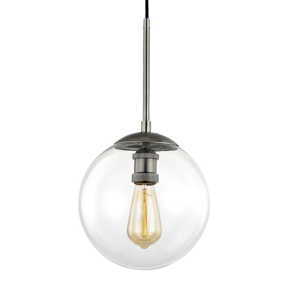 Fifth And Main Lighting Asheville 1 Light Historic Nickel Globe Pendant With Gl Shade