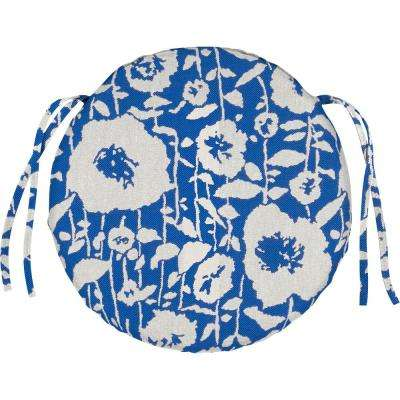 Sunbrella Andy - Cobalt Round Outdoor Seat Cushion