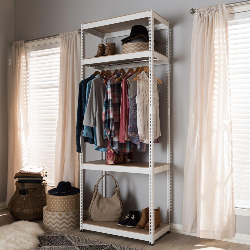 White Closet Organizer Kit 2891   The Home Depot