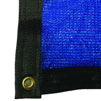 7.8 ft. x 8 ft. Blue 88% Shade Protection Knitted Privacy Cloth