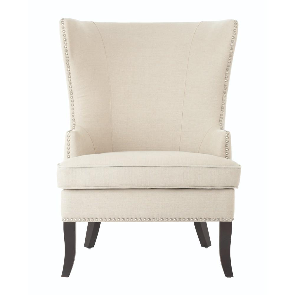 HomeDecoratorsCollection Home Decorators Collection Moore Linen Oatmeal Wing Back Chair