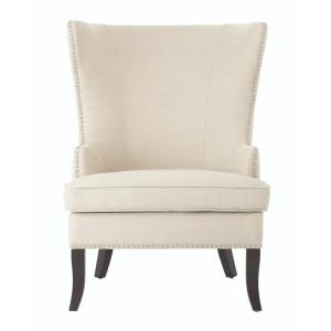 Exceptionnel Home Decorators Collection Moore Linen Oatmeal Wing Back Chair 1338800220    The Home Depot
