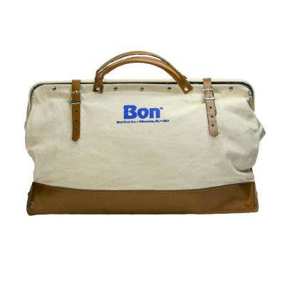 24 in. Canvas Tool Bag with Leather Bottom
