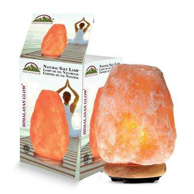 8.32 in. Pink Ionic Hand Carved Natural Crystal Salt Lamp