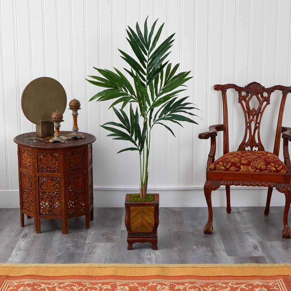 51 in. Kentia Artificial Palm Tree in Decorative Planter