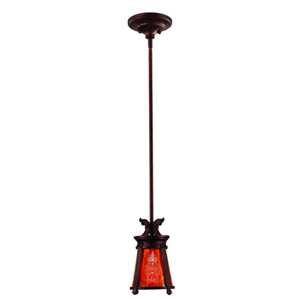 Eurofase Casanova Collection 1-Light Hanging Antique Bronze Mini Pendant-DISCONTINUED