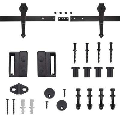 72 in. Dark Oil-Rubbed Bronze Arrow Sliding Barn Door Track and Hardware Kit