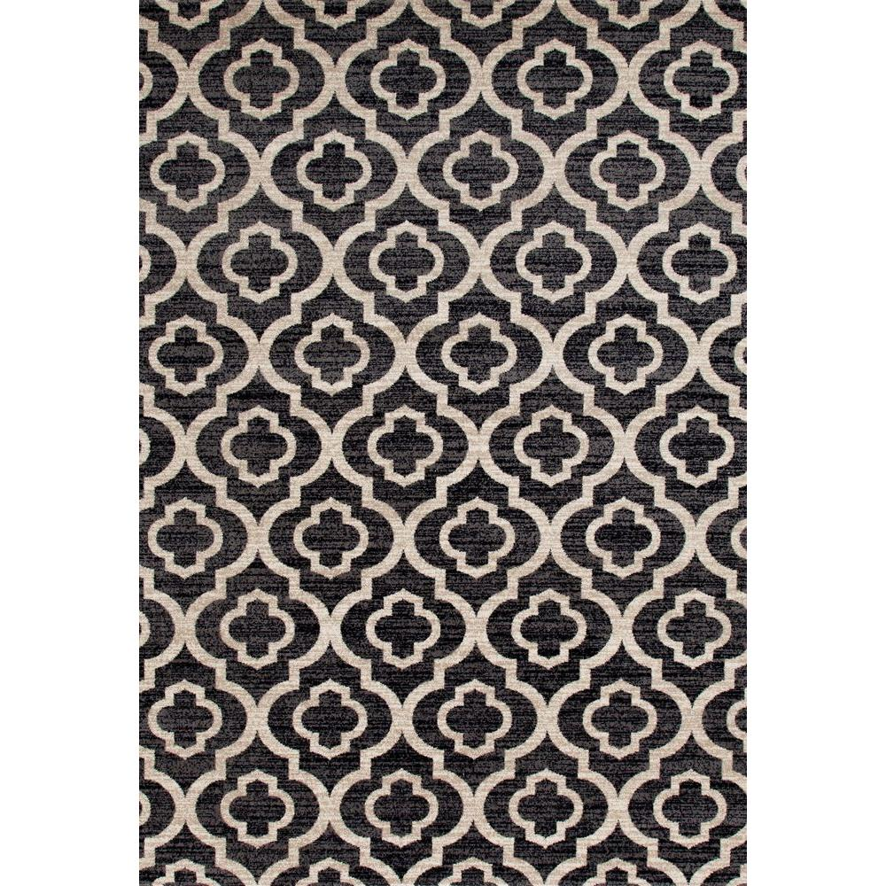 World Rug Gallery Moroccan Trellis Pattern High Quality Soft Gray 5 Ft X 7