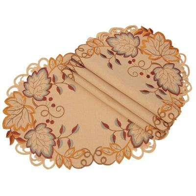 0.1 in. H x 13 in. W x 19 in. D Harvest Verdure Embroidered Cutwork Fall Placemats (Set of 4)