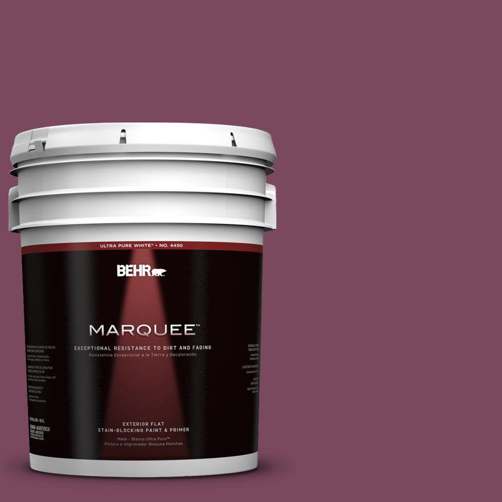 BEHR MARQUEE 5-gal. #100D-7 Maroon Flat Exterior Paint