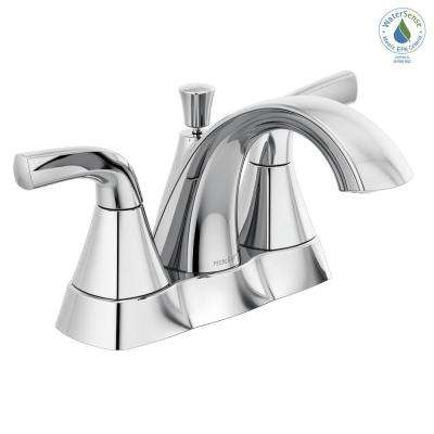 Parkwood 4 in. Centerset 2-Handle Bathroom Faucet with Pop-Up Assembly in Chrome