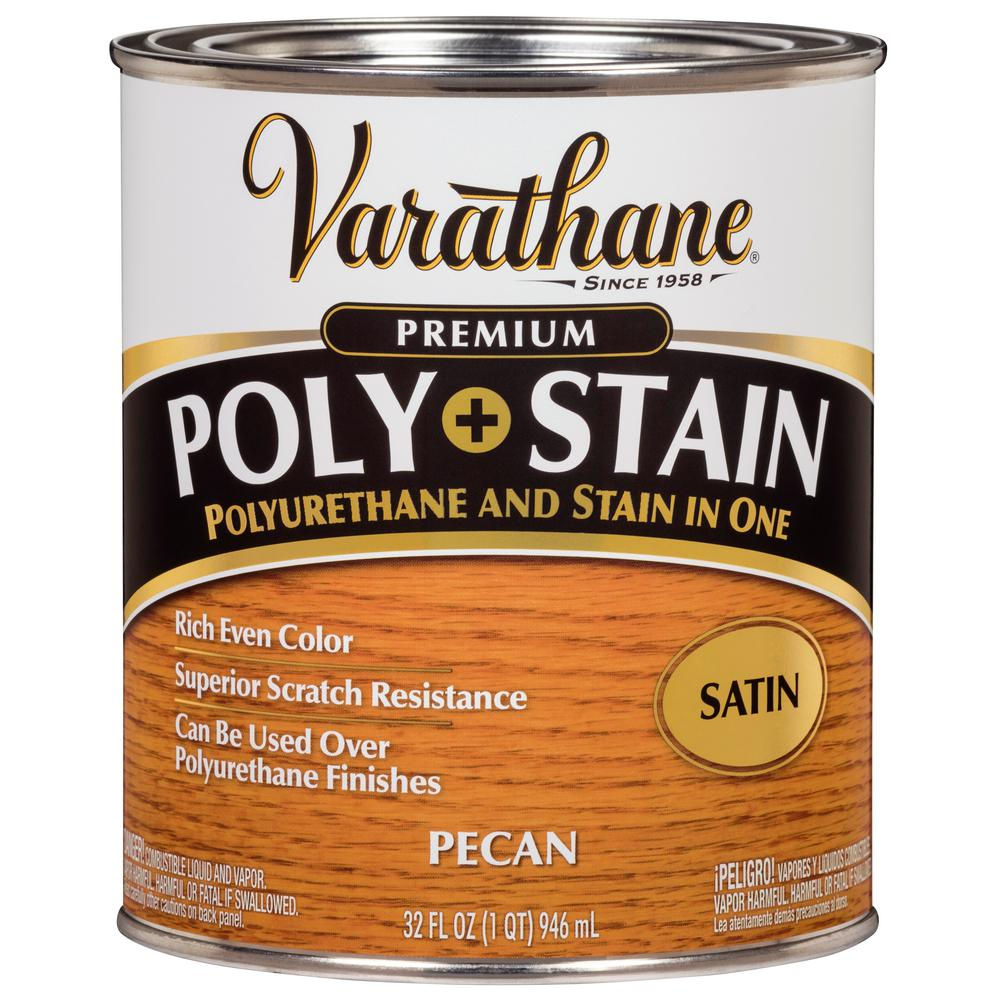 Varathane Varathane 1 qt. Pecan Satin Oil-Based Interior Stain and Polyurethane