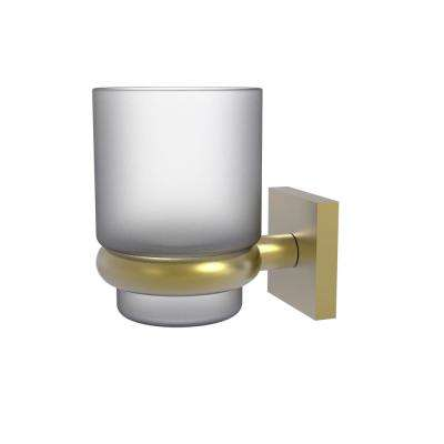 Montero Collection Wall Mounted Tumbler Holder in Satin Brass