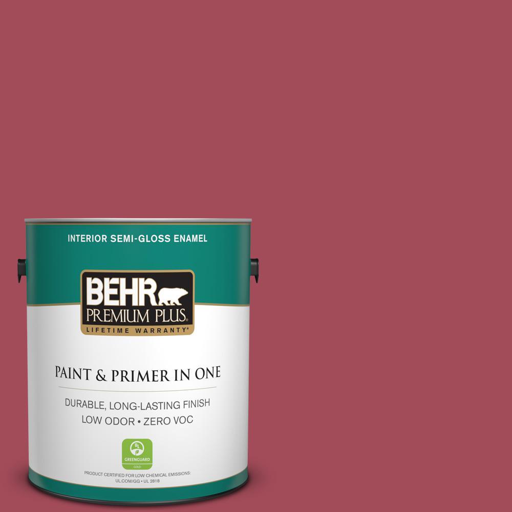 1-gal. #130D-6 Sweet Spiceberry Zero VOC Semi-Gloss Enamel Interior Paint