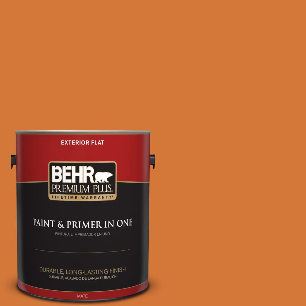 BEHR Premium Plus 1 gal. #T17-19 Fired Up Flat Exterior Paint