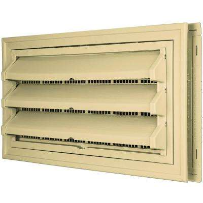 9-3/8 in. x 17-1/2 in. Foundation Vent Kit with Trim Ring and Optional Fixed Louvers (Molded Screen) in #012 Dark Almond