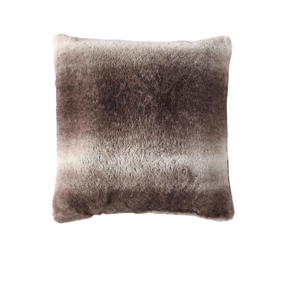 Morgan Home Millburn Faux Fur Throw Pillows, Brown (Set of 2)