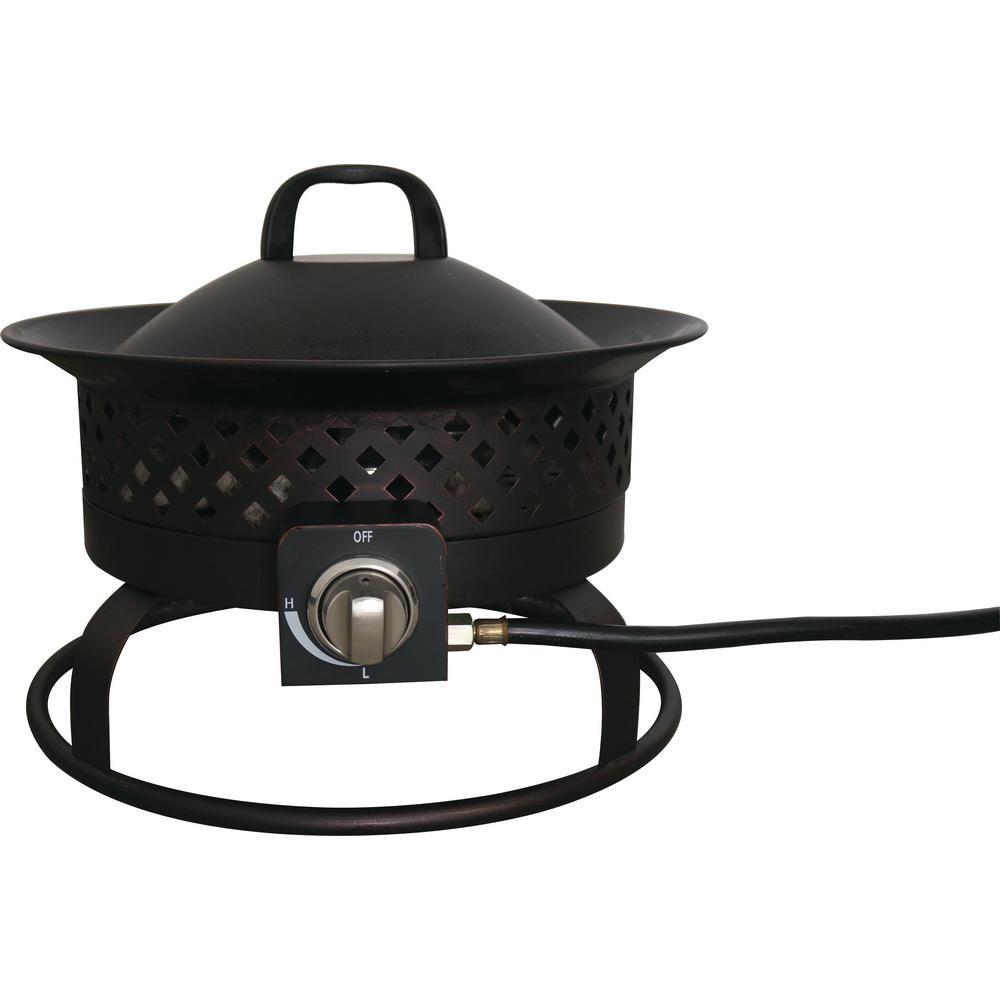 Aurora 18.5 in. x 14.65 in. Round Portable Steel Propane Gas Fire Bowl