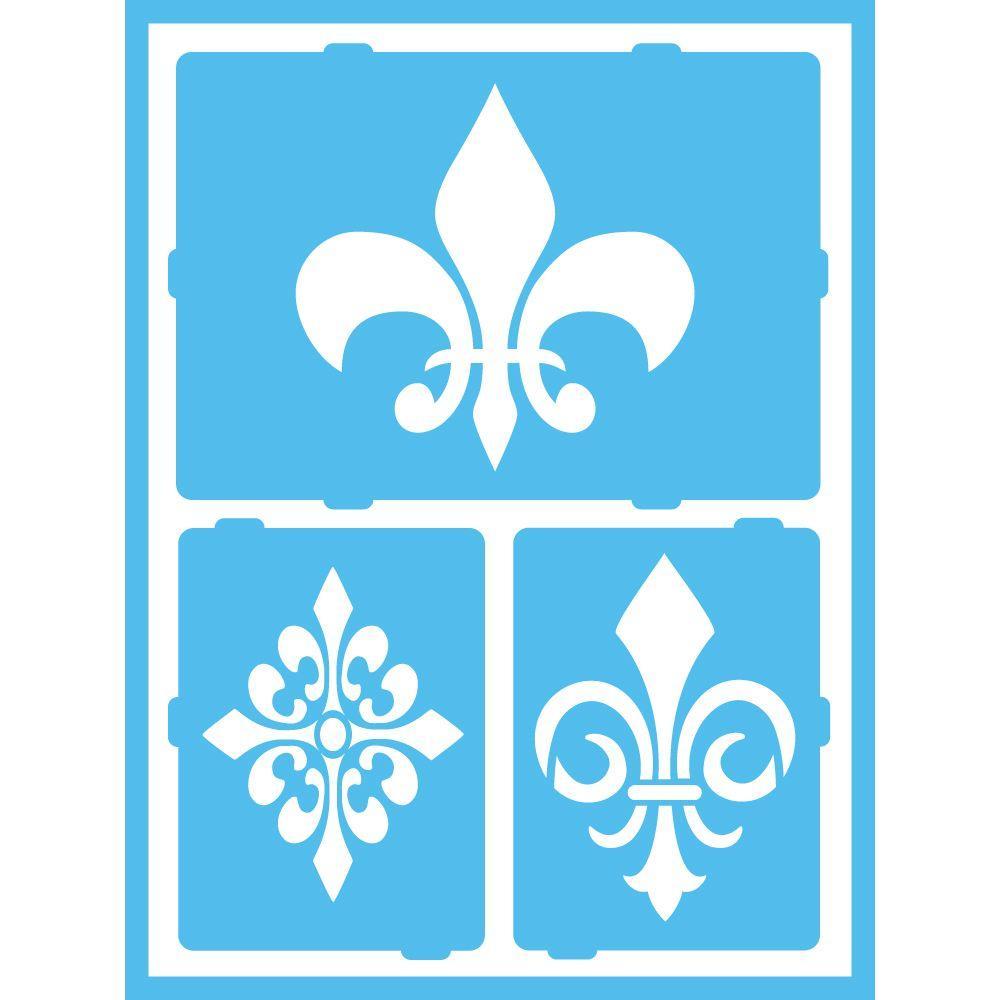 Americana Large Fleur de Lis Self-Adhesive Stencil-AGS215-K - The ...