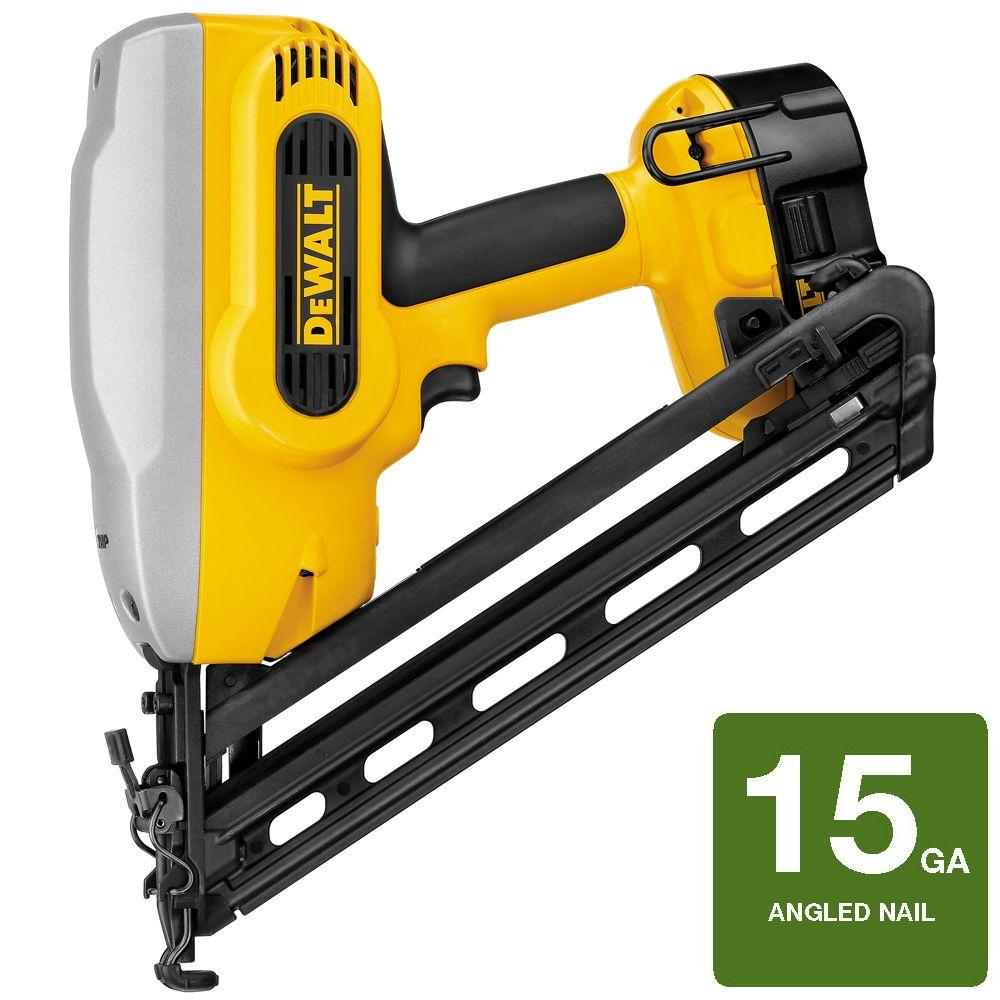 DEWALT 18-Volt XRP NiCd Cordless XRP 15-Gauge 34 Degree Angled Nailer Kit with Battery 2.4Ah, 1-Hour Charger and Case