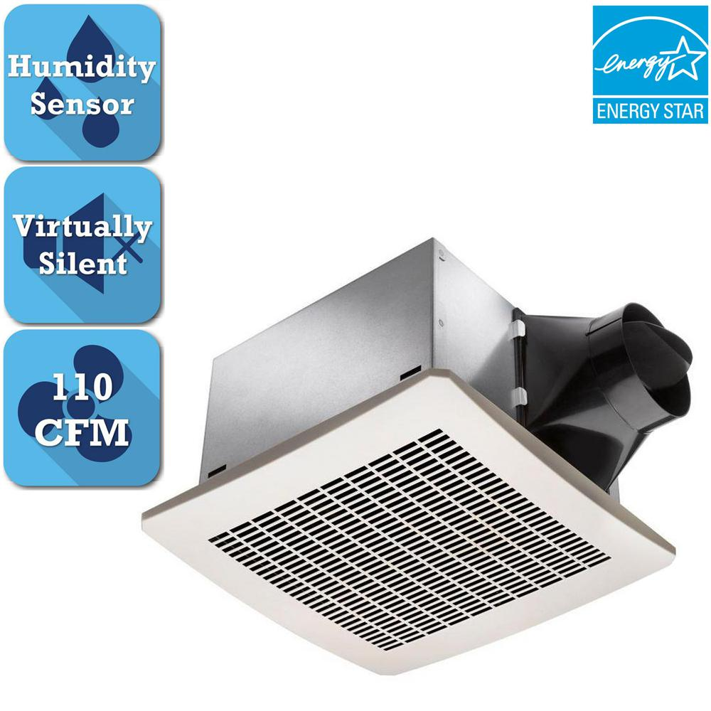 Delta Breez Signature 110 CFM Ceiling Humidity Sensing Bathroom Exhaust Fan, ENERGY STAR
