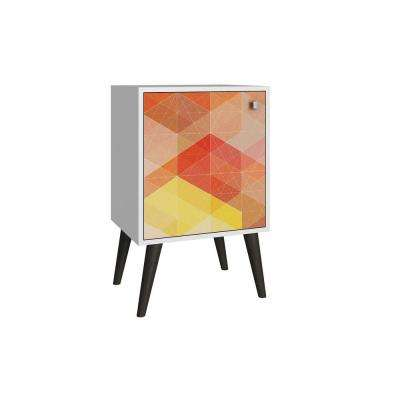 Avesta White and Multi-Colored Storage Side Table