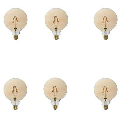 25W Equivalent Vintage G40 Dimmable LED Light Bulbs (6-Pack)