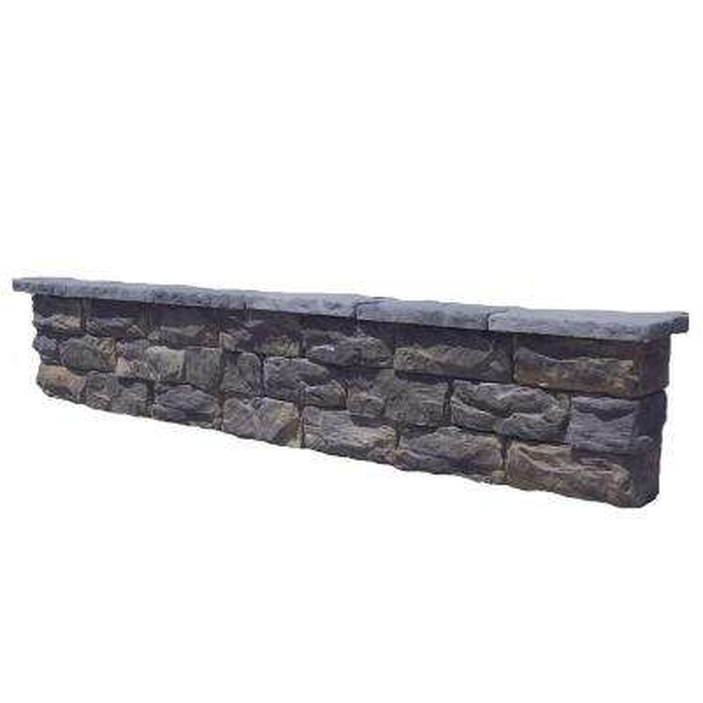 112 in. Fossill Limestone Seat Wall