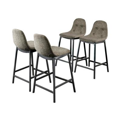 Joshitha 34.25 in. H Dark Gray and Gray Counter Height Chairs (Set of 4)